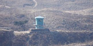 함경북도 나선 두만강역 두만강동 북한군 초소