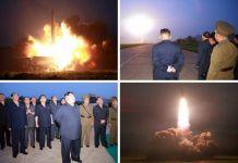 김정은 유도탄 발사