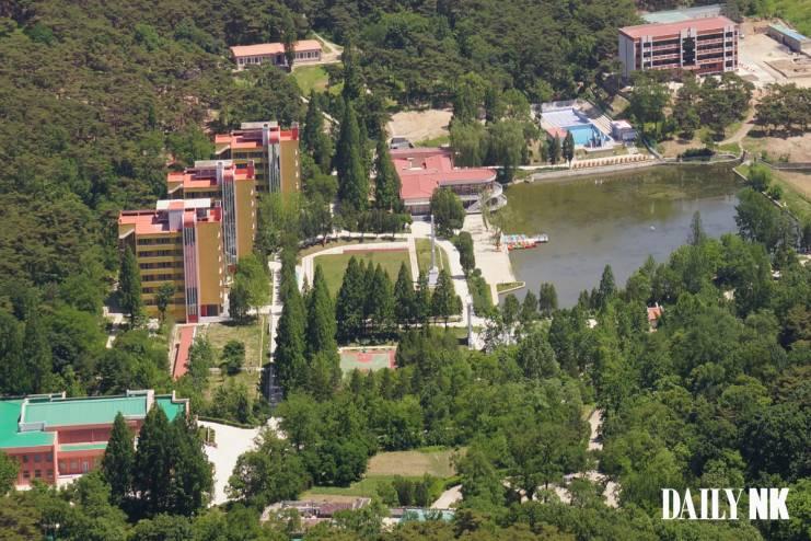 북한 북부지역의 소년단 야영소