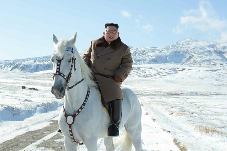 김정은 백두산