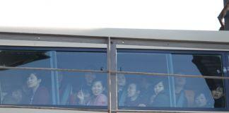 2019년 10월 15일 단둥 조중우의교 북한 여성 노동자들