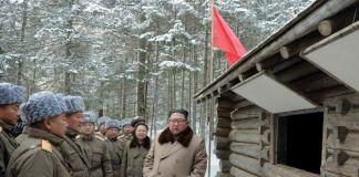 김정은 백두산 혁명전적지
