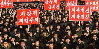 2020년 1월 5일 전원회의 관철 평양 궐기대회