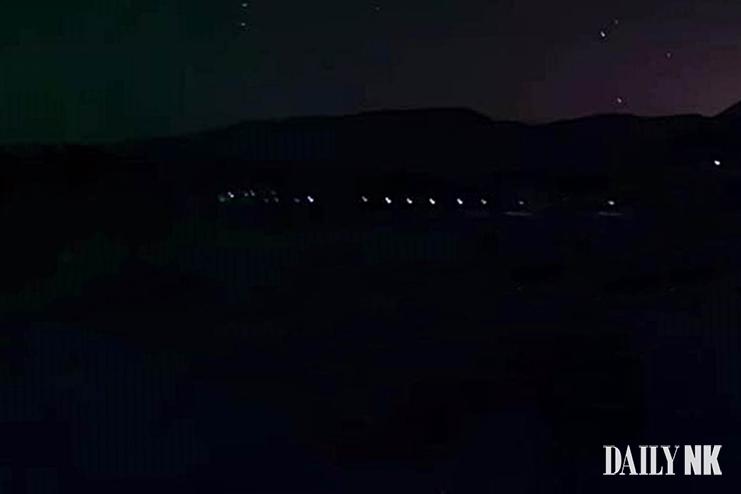 북한 야간 초소