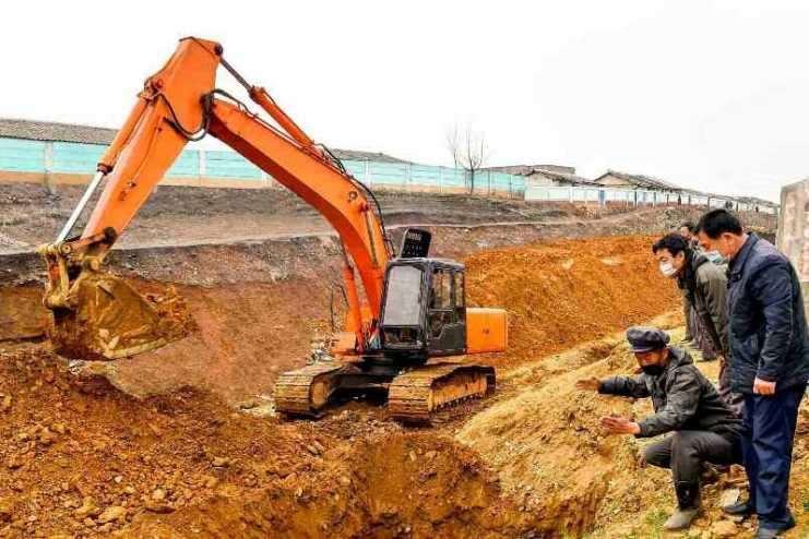 북한황해북도서하천정리사업…큰물피해방지