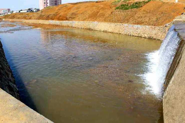 큰물피해방지하천정리사업 돌입한 북한 황해북도