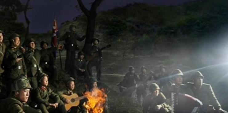 북한군 야간훈련